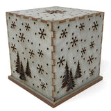 Doles Orchard Snowflakes 4.5-inch Laser-Cut Luminary with LED Tealight, Blue