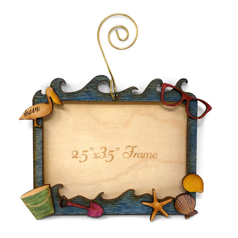 Doles Orchard Laser-Cut Wood Magnetic Photo Ornament, Coastal