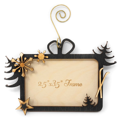 Doles Orchard Laser-Cut Wood Magnetic Photo Ornament, Winter