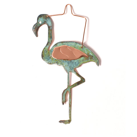 Dos Damas Designs Flamingo Copper Ornament