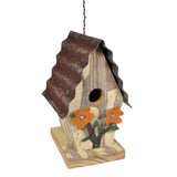 Dryads Dancing Salvaged Wood and Metal Birdhouse