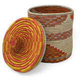 African Fair Trade Handwoven 7.5-inch Lidded Box, Terracotta