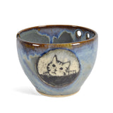 Goldhawk Pottery Tabby Cat Yarn Bowl