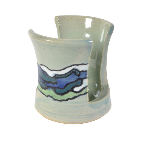 Goldhawk Pottery Shoreline Sponge Holder, Turquoise