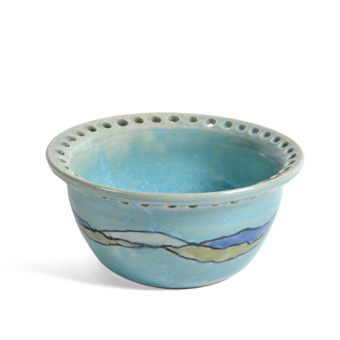 Goldhawk Pottery Shoreline Low Profile Earring Bowl, Turquoise
