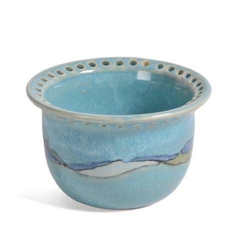 Goldhawk Pottery Shoreline Earring Bowl, Turquoise