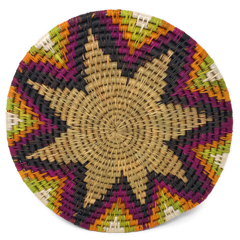 African Fair Trade Handwoven Trivet, Candy