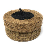 African Fair Trade Hand Woven Coasters in a Basket, Set of 6