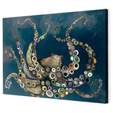 Octopus in The Deep Blue Sea by Eli Halpin Canvas Wall Art