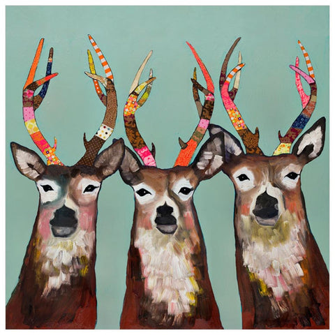 Designer Deer by Eli Halpin Canvas Wall Art, 14 x 14