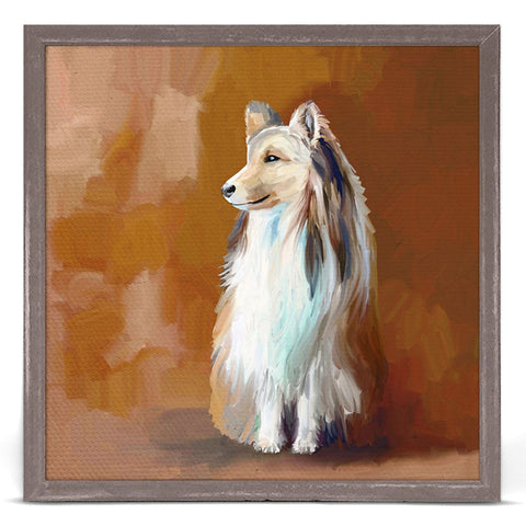 Best Friend Shetland Sheepdog Cathy Walters 6 x 6 Mini Framed Canvas