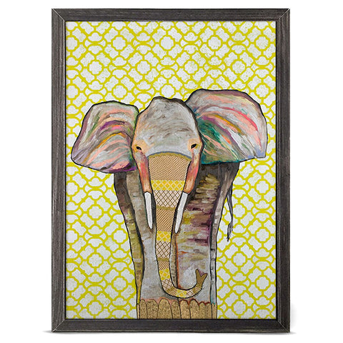 Trendy Trunk by Eli Halpin 5 x 7 Mini Framed Canvas, Rustic Black