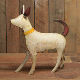 HomArt Reclaimed Metal 13 x 12-inch Walking Dog Statue, White