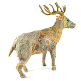 HomArt Reclaimed Fabric Reindeer, Large