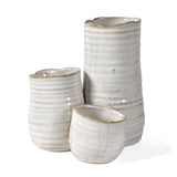 HomArt Bower Clustered Ceramic Vase, Fancy White - The Barrington Garage