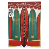 Heart the Moment Big Kahuna Surfboard Party Hat Greeting Card
