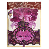 Heart the Moment Fabulous Feathers Party Hat Greeting Card