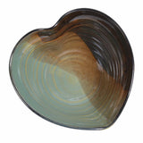 Holman Pottery Heart Shaped Bowl, Green Earth
