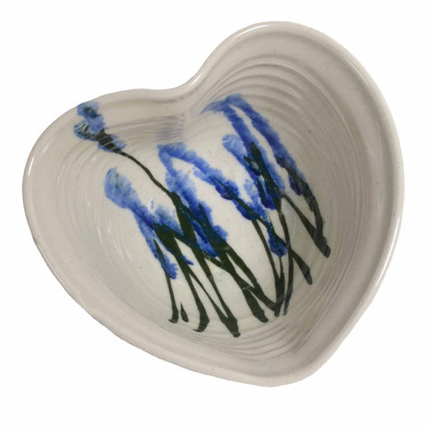Holman Pottery Heart Shaped Bowl, Wildflower