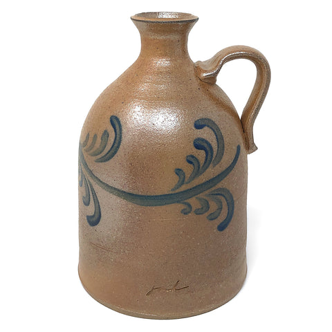 Inspire Pottery Studio 8.5-inch Soda Fired Jug with Vine Motif