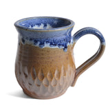 Inspire Pottery Studio Soda Fired Mug with Dipped Rim, Blue
