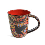 John Hutson Pottery Hummingbird Mug, Red/Multi - The Barrington Garage
