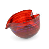 Jim Loewer Heart Blown Glass Bowl, Red - The Barrington Garage