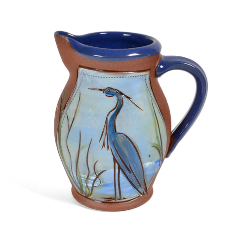 Jennifer Stas Pottery 16-ounce Heron Pitcher