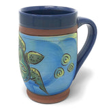 Jennifer Stas Pottery Sea Turtle 16-ounce Coffee Mug, Blue/Multi