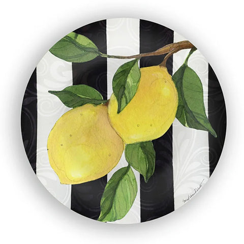 Bamboo Table Lemon Branch 10.5-inch Dinner Plate, Set of 4