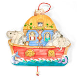 Laughing Moon Noah's Ark Jumping Jack Wooden Pull Toy