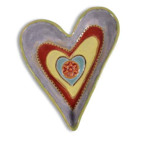 Laurie Pollpeter Eskenazi Northern Lights 6.5-inch Heart Dish