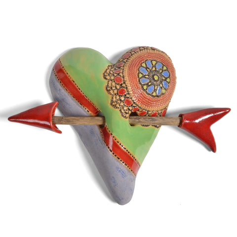 Laurie Pollpeter Eskenazi Small Heart with Arrow, Little Jester