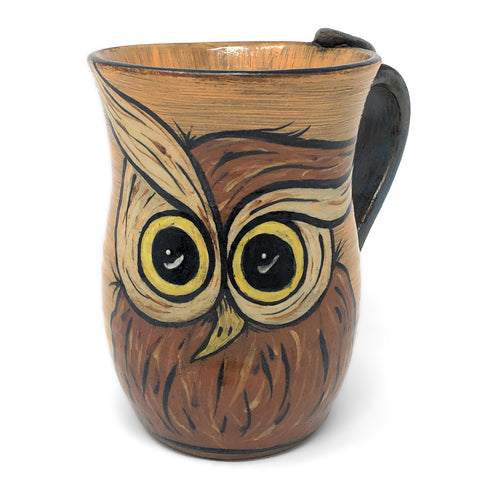 MJ Wilkinson Pottery Hand-Painted Owl Mug