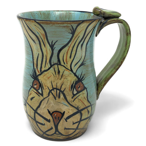 MJ Wilkinson Pottery Hand-Painted Bunny Mug