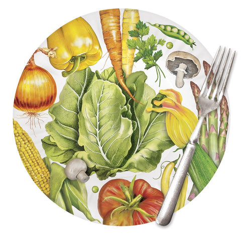 Mary Lake-Thompson Scattered Veggies 9-inch Melamine Plates, Set of 4