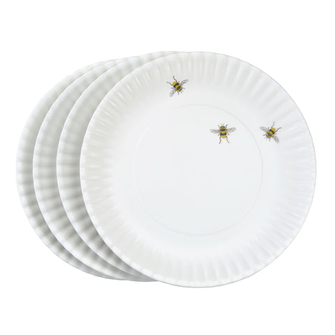 Mary Lake-Thompson Bee Melamine Dinner Plates, Set of 4