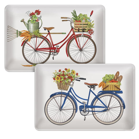 Mary Lake-Thompson Summer Bikes Small Ceramic Trays, Set of 2