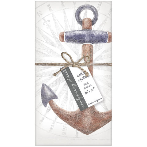 Montgomery Street Anchor Cotton Napkins, Set of 4 - The Barrington Garage