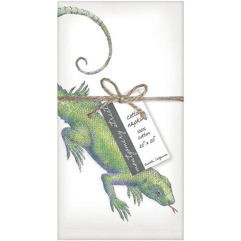 Montgomery Street Lizard Cotton Napkins, Set of 4 - The Barrington Garage