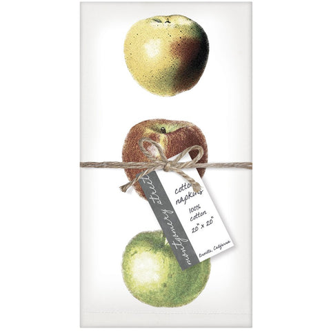 Montgomery Street Apples Cotton Napkins, Set of 4 - The Barrington Garage