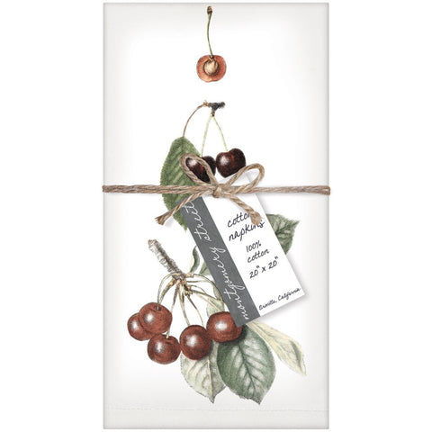 Montgomery Street Cherries Cotton Napkins, Set of 4