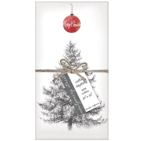 Montgomery Street Christmas Tree Cotton Napkins, Set of 4