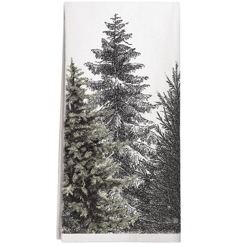 Montgomery Street Evergreens Cotton Flour Sack Dish Towel - The Barrington Garage