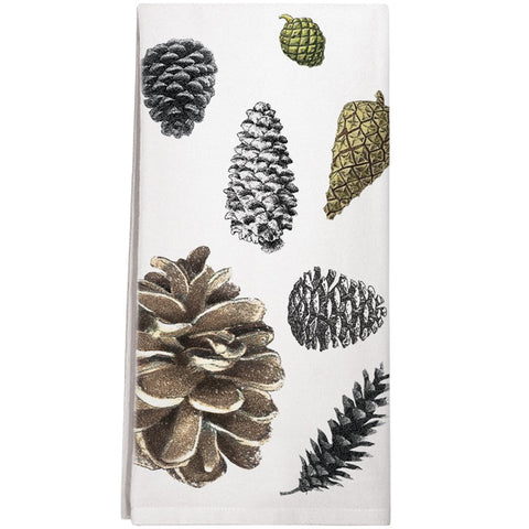 Montgomery Street Pinecones Cotton Flour Sack Dish Towel - The Barrington Garage