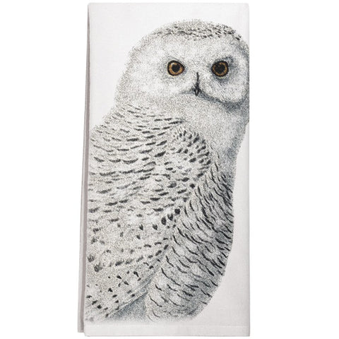 Montgomery Street Snowy Owl Cotton Flour Sack Dish Towel - The Barrington Garage