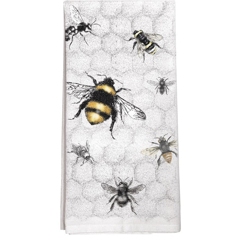 Montgomery Street Bee Colony Cotton Flour Sack Dish Towel
