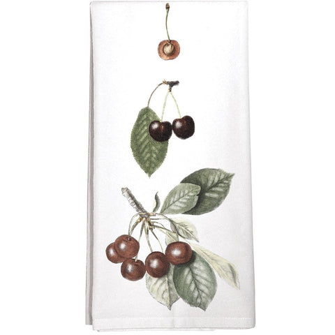 Montgomery Street Cherries Cotton Flour Sack Dish Towel