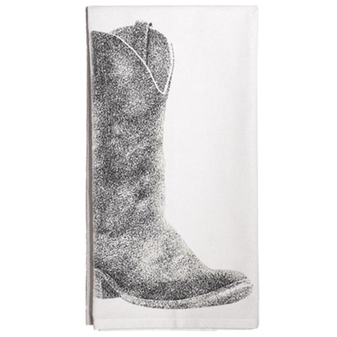 Montgomery Street Boot Cotton Flour Sack Dish Towel