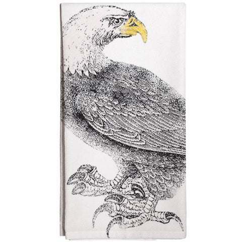 Montgomery Street Bald Eagle Cotton Flour Sack Dish Towel - The Barrington Garage